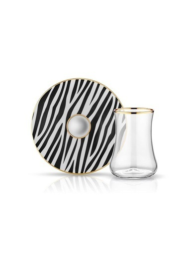 Koleksiyon Dervısh Çay Set 6'lı Zebra-Koleksiyon